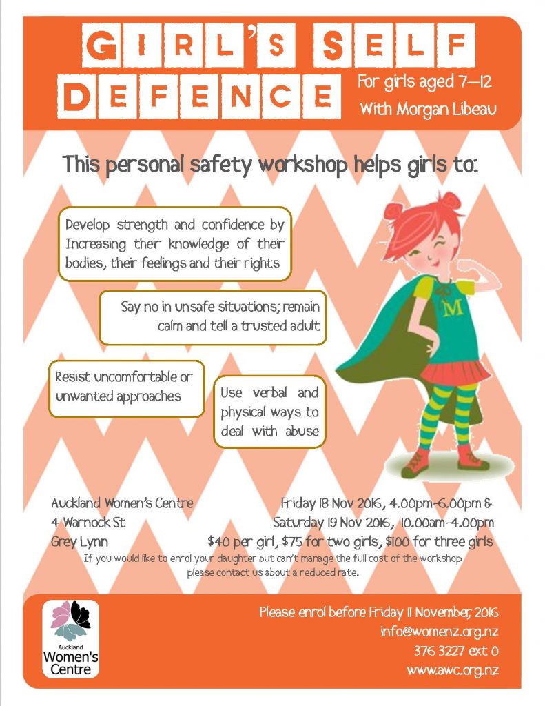 Girls self defence poster Spring 2016